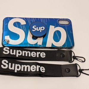 Supreme iPhone XS Max case Blue Comes With Pop Up